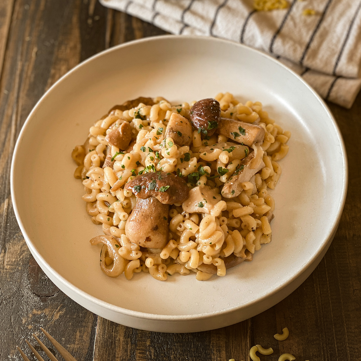 Coquillettes_risotto_cepes